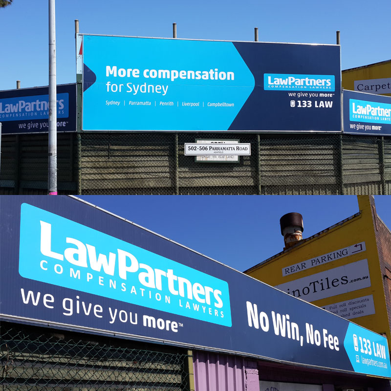 Large banner print for Law Partners