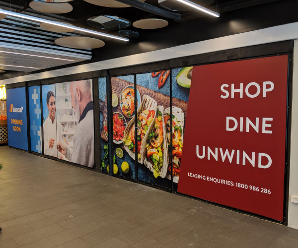 Sail Track Hoarding Banner for Chatswood Place