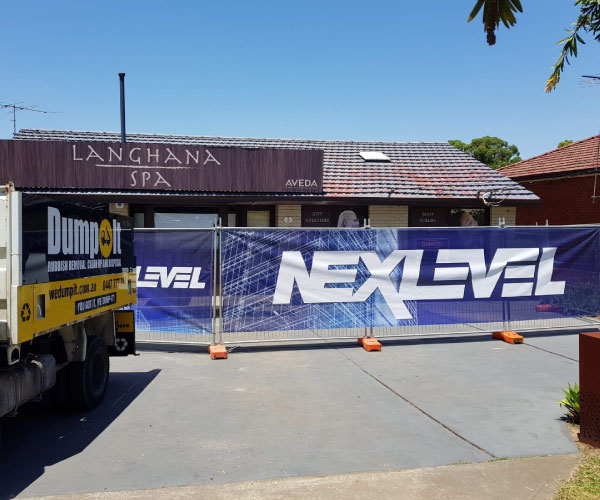 Construction Banner Mesh for NexLevel
