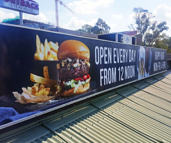 Large Promotional Banner for Outback Steakhouse
