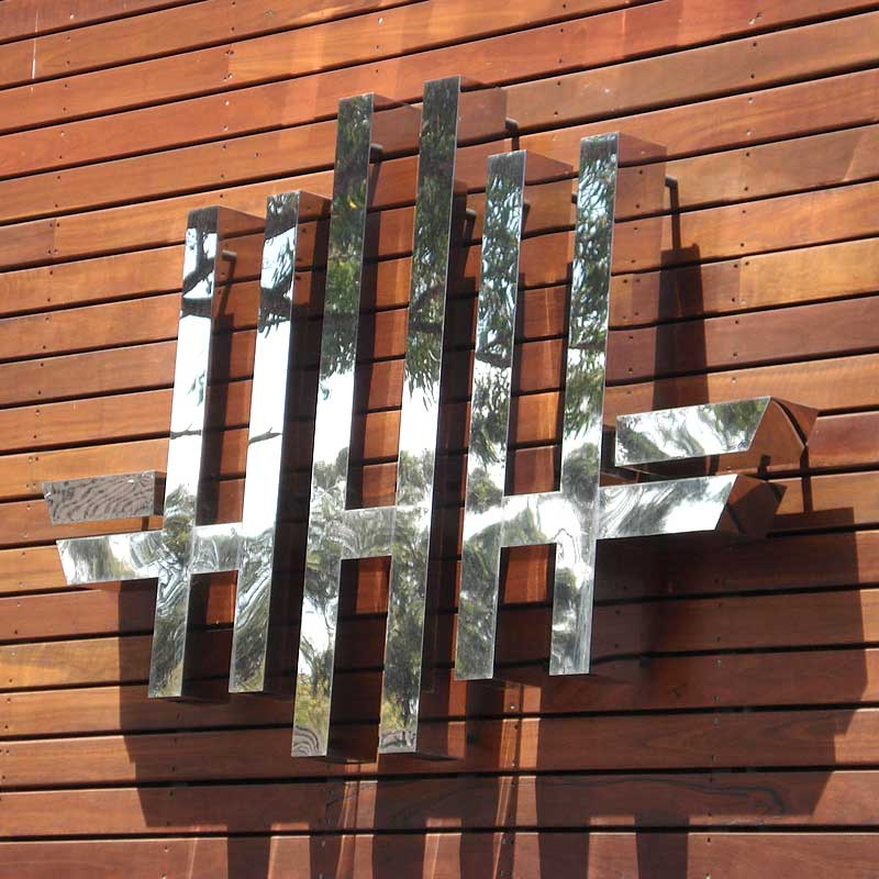 Mirror Stainless Steel Sign