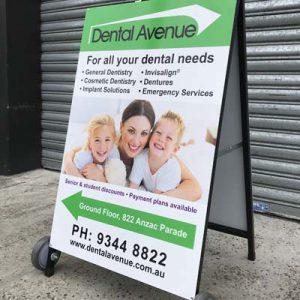 Dental Avenue A-frame