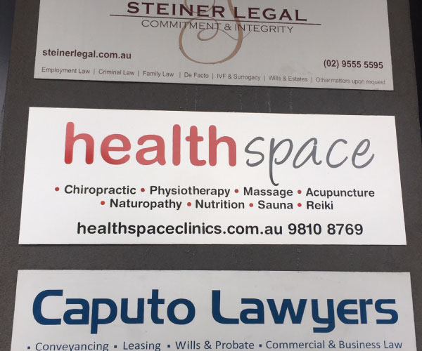 Directory Sign Board for Health Space