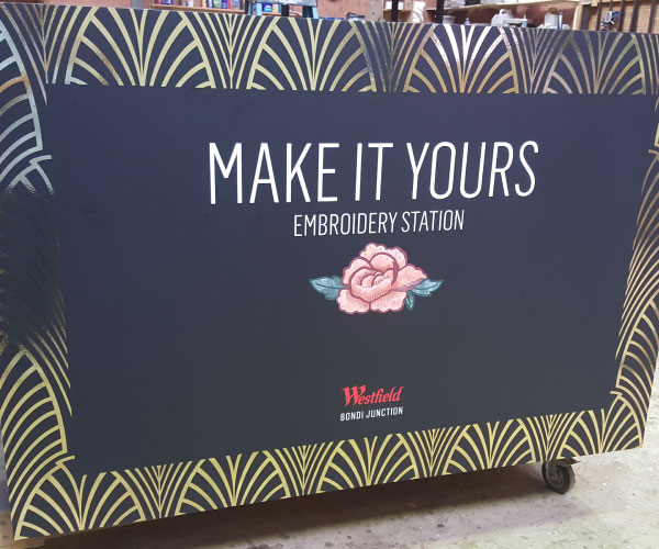 Event Stall Decals for Westfields Promotion