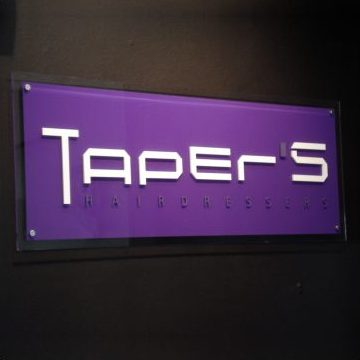 Acrylic office counter sign